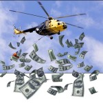 soldi dall'elicottero