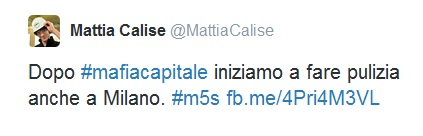 tweet di calise