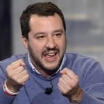 10/12/2014 Roma. Rai. Trasmissione televisiva Porta a Porta. Nella foto Matteo Salvini